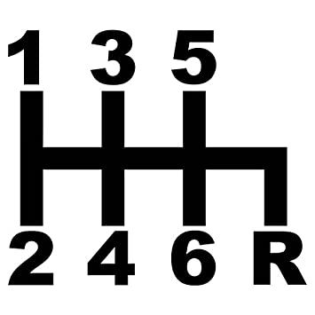 Amazon Stick Shift Gears Diagram Jdm Vinyl Decal 69x6 Inches