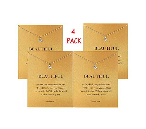 Hundred River Butterfly Necklace(4pack) (Butterfly) ()