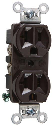 Legrand-Pass & Seymour CRB5362CC12 20-Amp/125-volt Construction Grade Duplex Receptacle, Brown ()