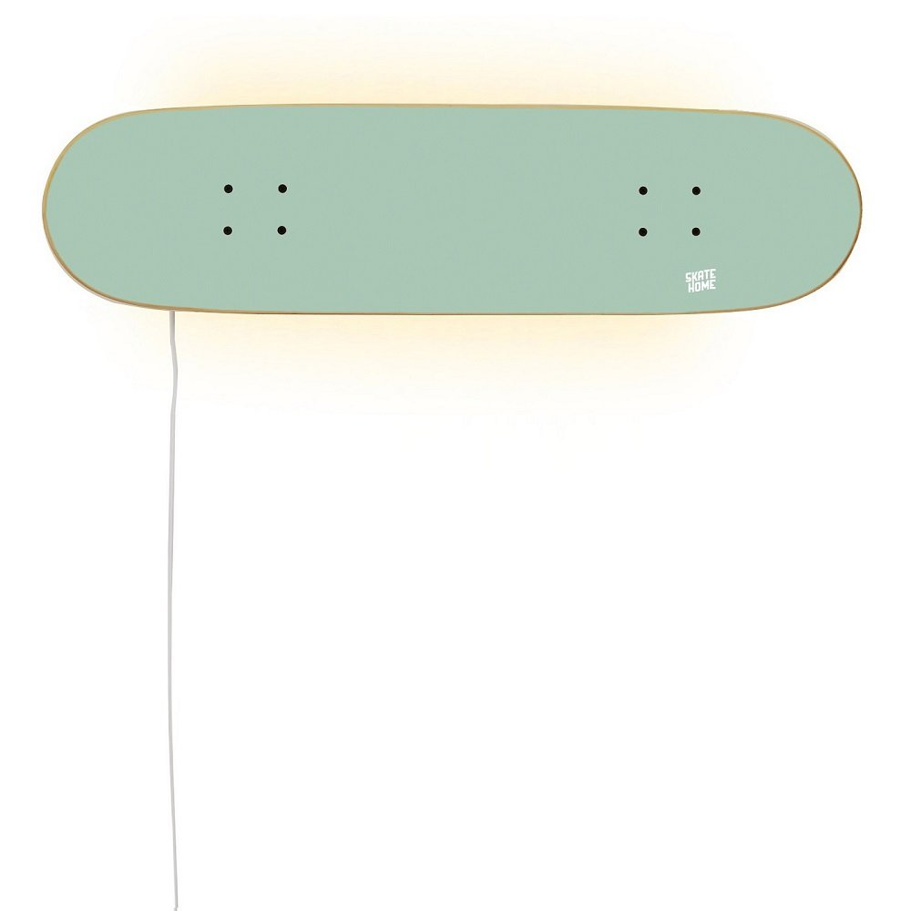 Decor Skate Inspiration Lighthouse with Skateboard Deck - Perfect Gift for Skateboarders - Lamp in mint color by SKATE HOME