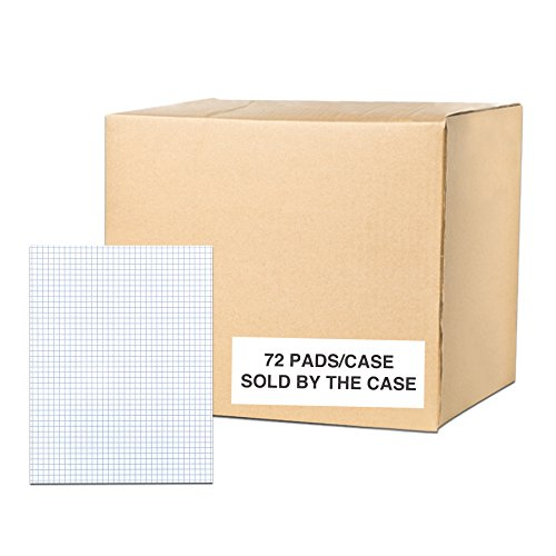 Case of 72 Gummed Pads, 8.5''x11'', 50 sheets 15# White Paper Per Pad, 12 Pads Per pack, 3-Hole Punched, glued, 4x4 graph Ruled by Roaring Spring (Image #6)