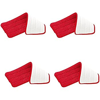 Rubbermaid - Reveal Mop Microfiber Cleaning Pad, Red, 15