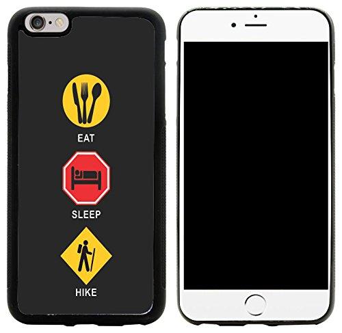 Rikki Knight Hybrid Case Cover for iPhone 6 Plus & 6s Plus - Eat Sleep Hike Design