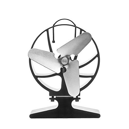 'Sirocco calor Powered Eco Ventilador de estufa de leña–Unique Triple Cuchilla Diseño–350M³/h