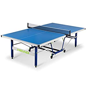 HEAD Oasis Outdoor Table Tennis Table – USATT Approved – Features Easy Assembly, Weather Proof Material – Complete with Net and Post Set