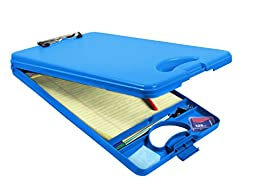 Saunders DeskMate II, Letter Size, Blue, Storage Clipboard with Carry Handle