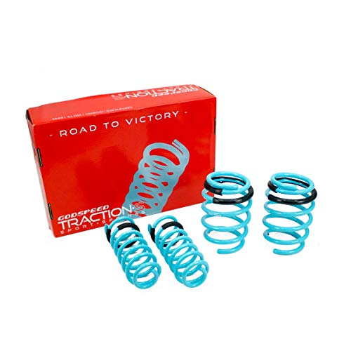 Godspeed LS-TS-NN-0014 Traction-S Performance Lowering Springs, Reduce Body Roll, Improved Handling, Set of 4 ()
