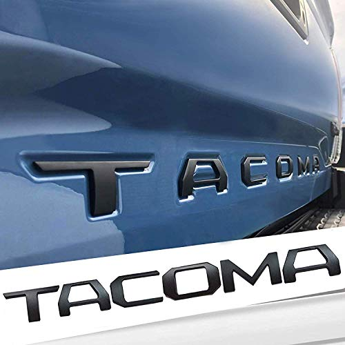 Auto safety 3D Raised Tailgate Metal Letters for Toyota Tacoma 2016 2017 2018 2019 Tailgate Inserts (Matte Black) Toyota Tacoma Accessories