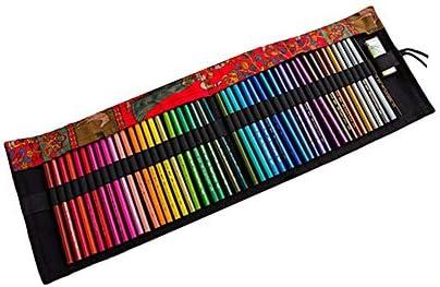 Gofeibao Estuche lapices Estuche Pinturas para niños Lápiz Caso Bolsa de lápiz Estuche para lápices Enrollable Lápiz Casos Chicas 48: Amazon.es: Hogar
