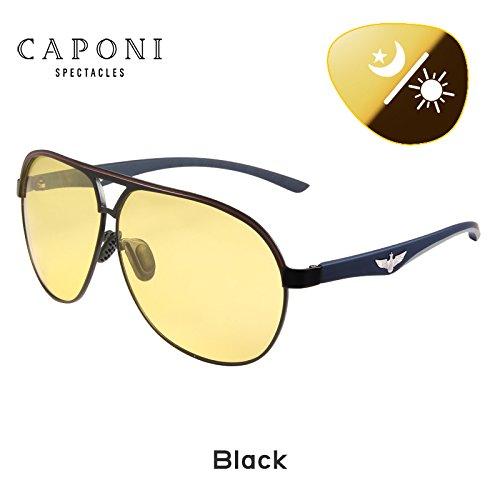 CAPONI Yellow Polarized Sunglasses Men Women Night Vision Goggles Driving Glasses Driver Aviation Polaroid Sun Glasses 8606 - Night Glasses Driving Polaroid