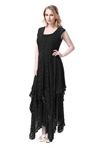 [Coway Womens Beach Plus Size Dresses Black Size 5XL] (Cheap Plus Size Fancy Dress)