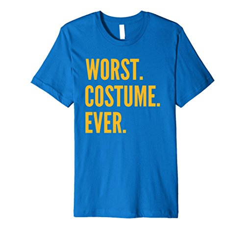Mens PREMIUM WORST COSTUME EVER 2017 Halloween Costume T-Shirt 2XL Royal Blue (The Worst Halloween Costumes 2017)
