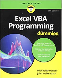 Buy Excel VBA Programming For Dummies (For Dummies (Computer/Tech ...