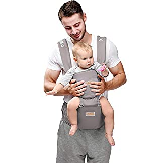 JooBebe 6-in-1 Convertible Baby Carrier Newborn to Toddler - Front and Backpack - Ergonomic Hipseat Baby Carrier with… 16