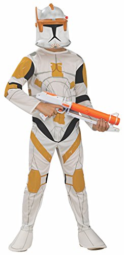 Rubie's Star Wars Clone Wars Child's Clone Trooper Commander Cody Costume and Mask, (Halloween Film Characters Costumes Uk)