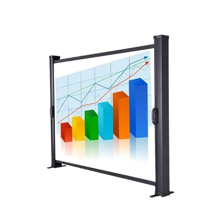 Tabletop Micro Portable Presenter Projector Screen 30