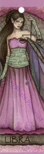 Jessica Galbreth Zodiac Sign Bookmark Fairy Faery LIBRA - Jessica Galbreth Zodiac Sign