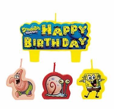 Bob Esponja Cumpleaños velas - juego de 4: Amazon.es: Hogar