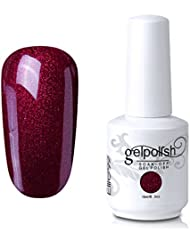 Elite99 Gel Nail Polish Soak Off UV LED Gel Lacquer Nail Art Manicure Pearl Persian Red 484 15ml