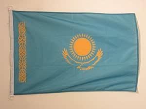 AZ FLAG Bandera Nautica de KAZAJISTÁN 45x30cm - Pabellón de conveniencia KAZAJA 30 x 45 cm Anillos: Amazon.es: Jardín
