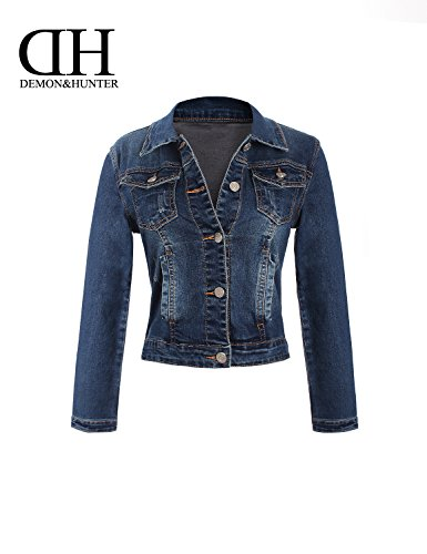 Denim Jacket X Demon Donna Serie 400x amp;hunter Dh4001 Blu q6IxwxBUC