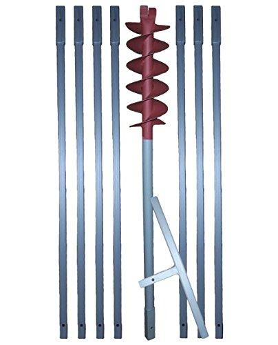 160 mm Erdbohrer + Brunnenbohrer verlängerbar  HIER  in versch. Längen (z.B. 8m)