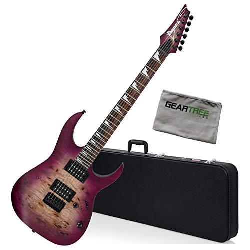 - Ibanez RGRT621DPB TPF Transparent Purple Burst RG Standard Guitar Bundle w/Case