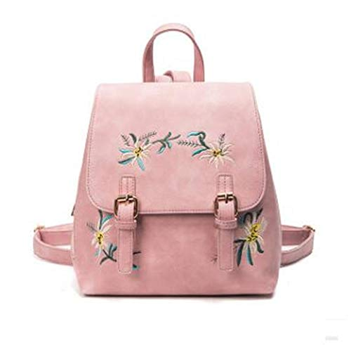 Women's PU Leather Embroidery Flowers Bagpack Bags ()