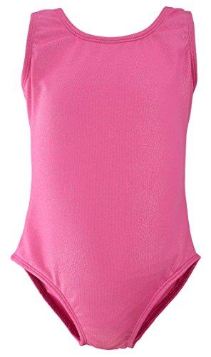 Dancina Girls Gymnastics Tank Top Leotard Dancewear Sparkle Pink - Apparel Big Kids Pink