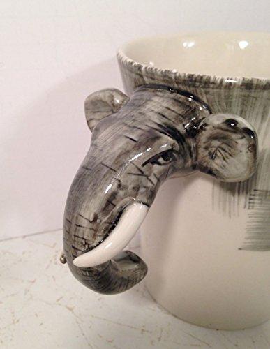 Pier 1 Elephant Figural Mug - Handpainted Stoneware (1 Imports Pier)