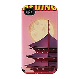 Beijing Full Wrap High Quality 3D Printed Case for iPhone 4 / 4s by Nick Greenaway + FREE Crystal Clear Screen Protector