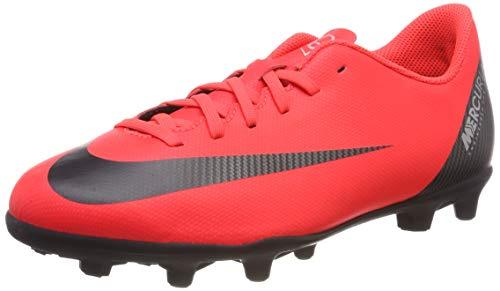 Nike JR Mercurial Vapor 12 Club GS CR7 MG Soccer Cleat (Bright Crimson) (2.5Y)