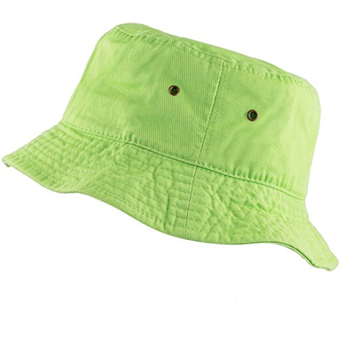 The Hat Depot 300N Unisex 100% Cotton Packable Summer Travel Bucket Hat (S/M, ()