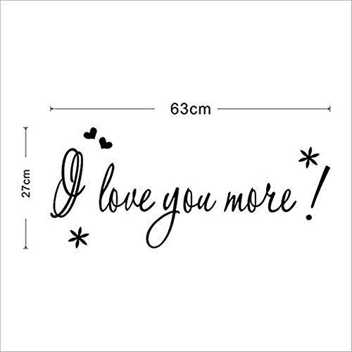 AxiEr Wall Stickers i love you more Removable Art Quotes Vinyl Mural Sticker Art Home Decor (Magic Mirror On The Wall Quote)