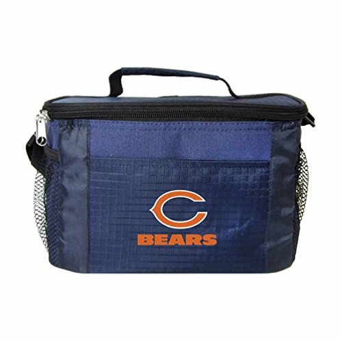 NFL Chicago Bears Insulated Lunch Cooler Bag with Zipper Closure, Navy (Chicago Bears Lunch Box compare prices)