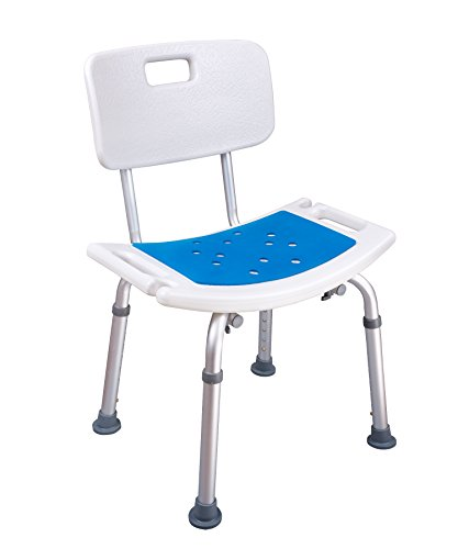 Medokare-Shower-Chair-with-Padded-Seat-Shower-Seat-for-Seniors-with-Back-Rest-Tote-Bag-and-Handles-Shower-Bench-Bath-Stool-Handicap-Tub-Shower-Seats-for-Adults-White-Chair