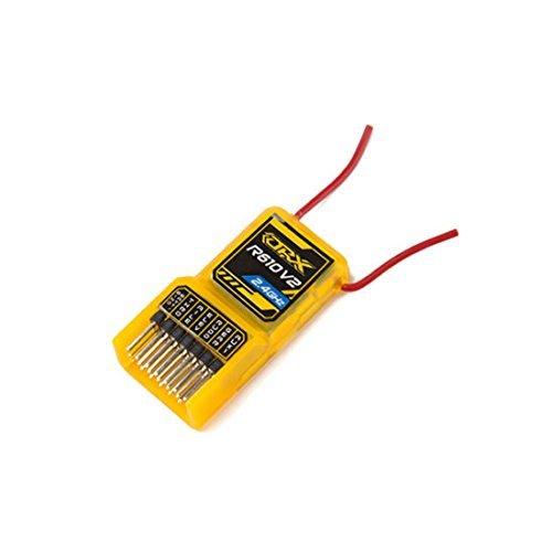 - OrangeRx R610 V2 6Ch 2.4GHz Orange RX Receiver w/CPPM Compatible DSM2 Top Selling