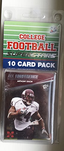 10 card pack college football mississippi state bulldogs different superstars starter kit