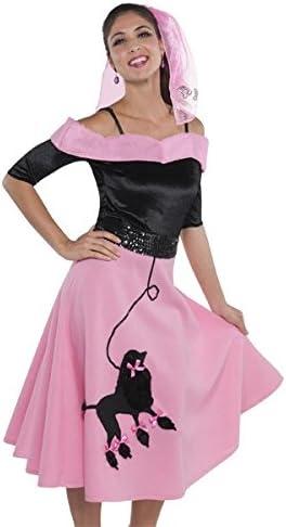 Falda con adorno de caniche de los años 50 o 60: Amazon.es ...