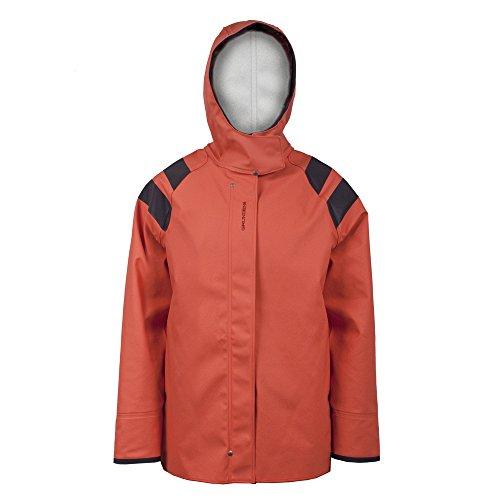 Grundens Sedna Womens Hooded Waterproof Jacket, Orage, L For Sale