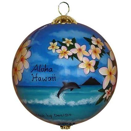 Maui By Design Collectible Hawaiian Christmas Ornament - Morning Glory  White Plumeria - Amazon.com: Maui By Design Collectible Hawaiian Christmas Ornament