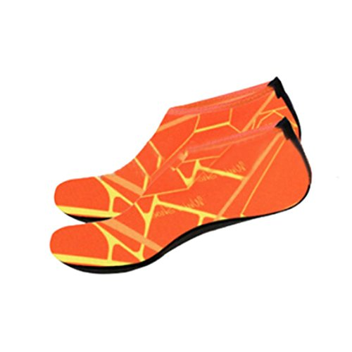Zapatos De Deportes Acuáticos, Inkach Unisex Yoga Surf Beach Snorkeling Calcetines Hombres / Mujeres Calcetines De Buceo Swimming Swim Barefoot Skin Shoes Orange