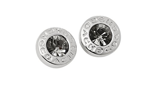 Coach OPEN CIRCLE STONE STRAND EARRINGS SILVER ()