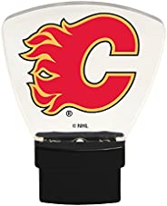 Authentic Street Signs 85304 NHL Calgary Flames LED Nightlight, Clear, One Size