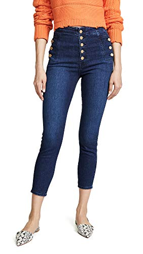 J Brand Women's Natasha Sky High Crop Skinny Jeans, Untamed, Blue, 28 from J Brand Jeans