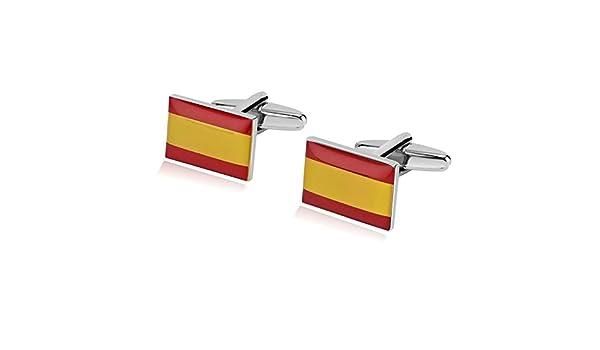 AnazoZ Gemelos Camisa Gemelos Camisa Acero Bandera Española ...