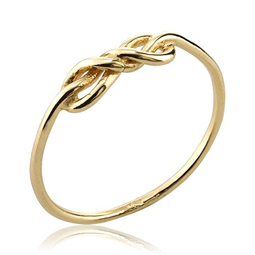 Handmade Dainty Infinity Knot Ring in 14k or 18k Gold, Precious Eternal Love Anniversary Ring by Neta Wolpe