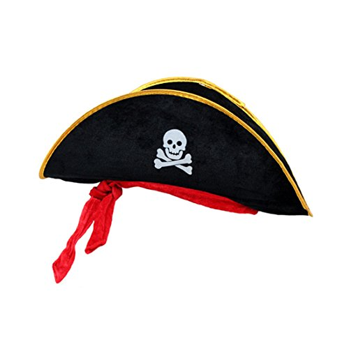 Td stores Kids Skull Hat Pirate Hat Corsair Cap Masquerade Party Halloween Supplies ()