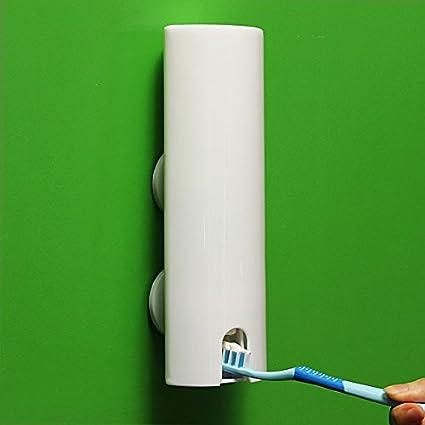 Una mamada Holder Tipo pasta de dientes automático dispensador Familia Cepillo de dientes