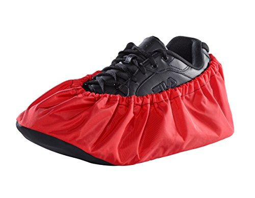 Reusable Washable Shoe & Boot Covers, Made in USA, NonSkid & Lab Tested, 4 Sizes (Large, Red)]()